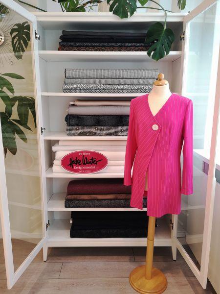 Jacke in pink Nadelstreifen Größe 38
